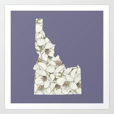 Idaho in Flowers Art Print