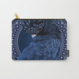 Decorative Australian Cockatoo in Blue Carry-All Pouch