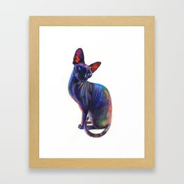 Black sphynx Framed Art Print