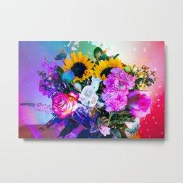 Disco Bouquet II Metal Print