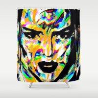 acid Shower Curtains featuring Acid Kendall by Simon Falk