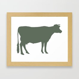 Cow: Green Framed Art Print