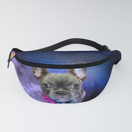 Dog French Bulldog and Galaxy Fanny Pack