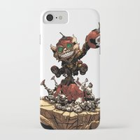 league of legends iPhone & iPod Cases featuring League of Legends Ziggs by Joel Cumpson