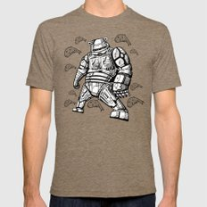 Robocop Robot Bear by RonkyTonk Mens Fitted Tee Tri-Coffee MEDIUM