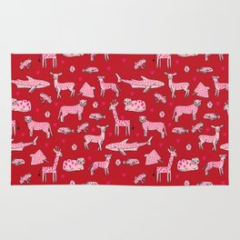 valentines animals nature sharks giraffe deer cats nursery love hearts Rug