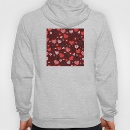 Valentine Hearts and Votive Candles Hoody