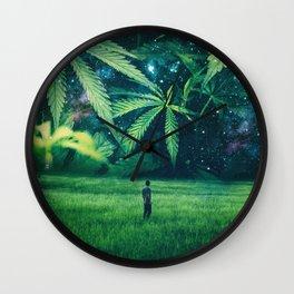 Cannabis Forest Wall Clock