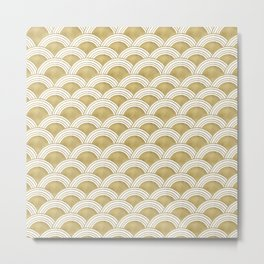 Japanese Wave Gold Glam #1 #decor #art #society6 Metal Print