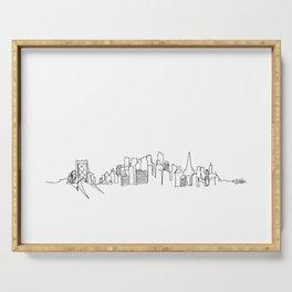 San Francisco Skyline Drawing Serving Tray