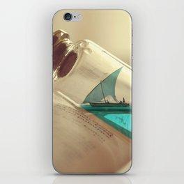 Boat in a bottle iPhone Skin