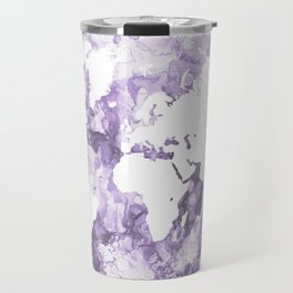 Design 109 Purple World Map Travel Mug