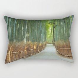 Path through Arashiyama bamboo forest near Kyoto, Japan Rectangular Pillow
