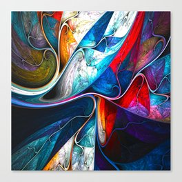 Abstract veins Canvas Print
