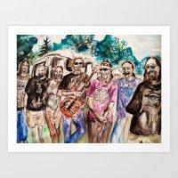 grateful dead Art Prints featuring Dark Star Orchestra Grateful Dead Painting by Acorn