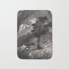 The Last Tree - black and white Bath Mat