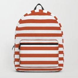 Vintage Red Stripes Backpack