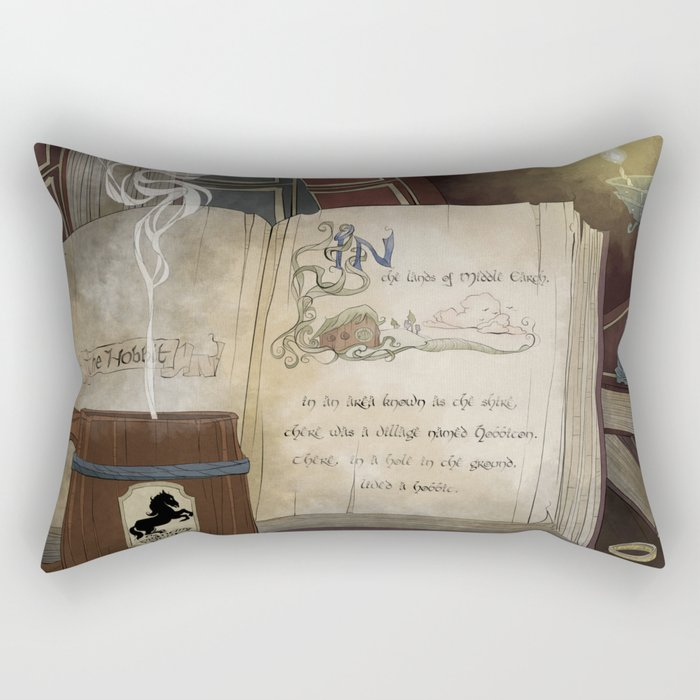 There and Back Rectangular Pillow