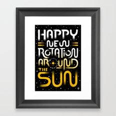 Happy New Rotation around the Sun Framed Art Print