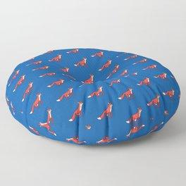 Fox in the night Floor Pillow