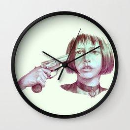 leon - mathilda  Wall Clock