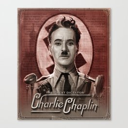 The Great Dictator - Charlie Chaplin Canvas Print