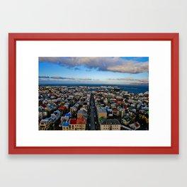 Reykjavik - Iceland Framed Art Print