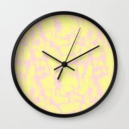 pink yellow Wall Clock