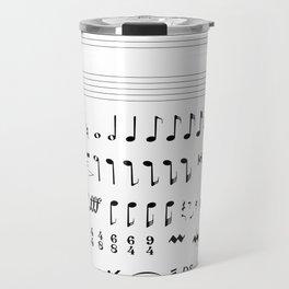 Musical Notation Travel Mug