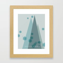 Modern Trees Color Dark Blue Framed Art Print