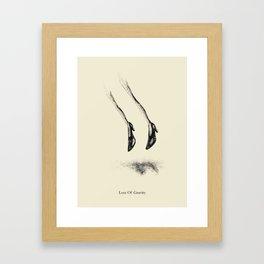 Loss Of Gravity Framed Art Print