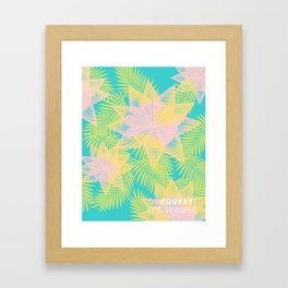 Summer is here with title Framed Art Print