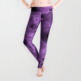 Alien space travel in purple and pink Leggings