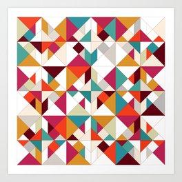 tangram geo Art Print