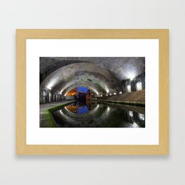 Canal Tunnel in Birmingham used as a set in the film Ready Player One Framed Art Print