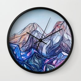 abstract landforms Wall Clock