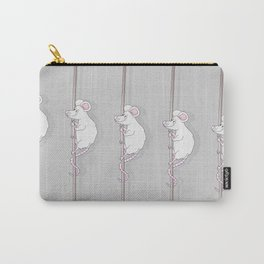 Cute Grey Cartoon Mouse Carry-All Pouch