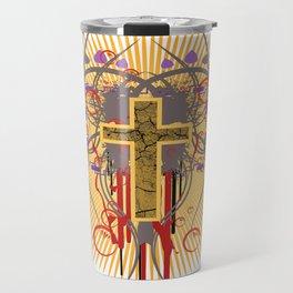 The Cross at Sunrise Travel Mug