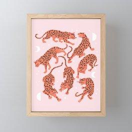 fierce females, pink night Framed Mini Art Print