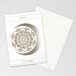 La Lune (the moon) Tarot Card - White Stationery Cards