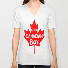 Good Canadian Boy  Unisex V-Neck