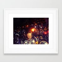 bikes Framed Art Prints featuring Bikes by SalOfficial