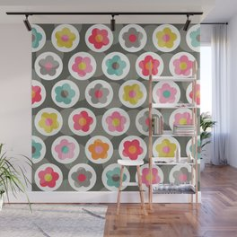 LAZY DAISY PATTERN Wall Mural
