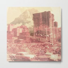 Crumble Mountain Metal Print