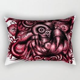 Spaceship Girl_Red Rectangular Pillow