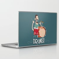 drums Laptop & iPad Skins featuring Drums! by soy8bit
