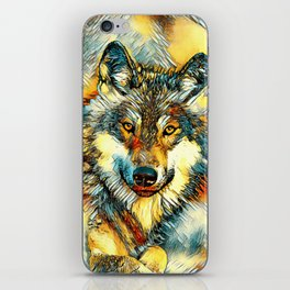 AnimalArt_Wolf_20170601_by_JAMColorsSpecial iPhone Skin