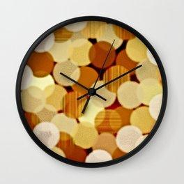 Fluffy Dots Wall Clock