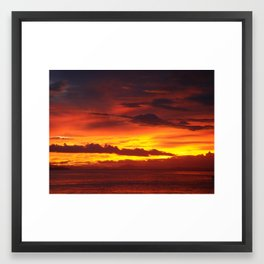 Costa Rican Sunset 4 Framed Art Print