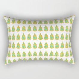 Turquoise Gold Rectangular Pillow